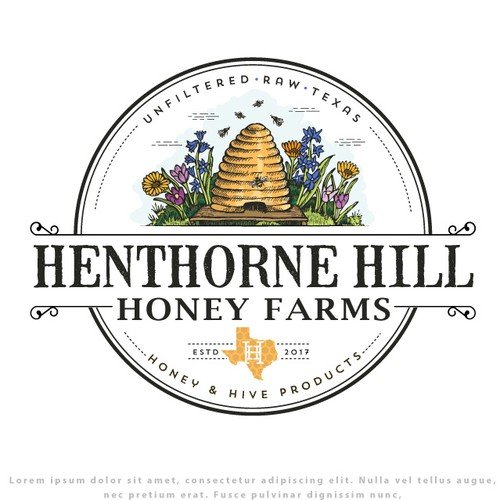 Logo for Henthorne Hill Honey Farm