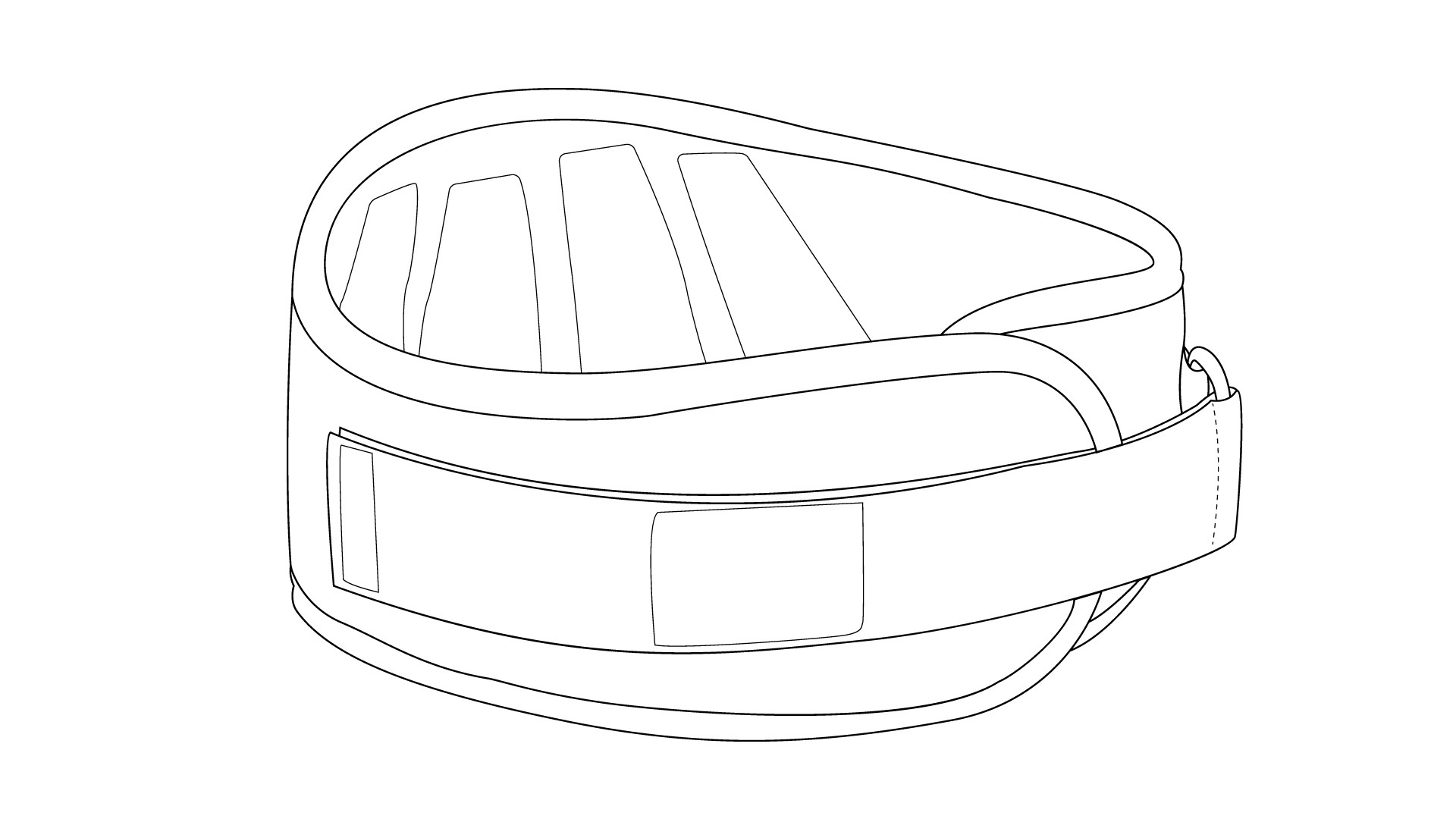 Line Drawing of Weight Belt, with logos added