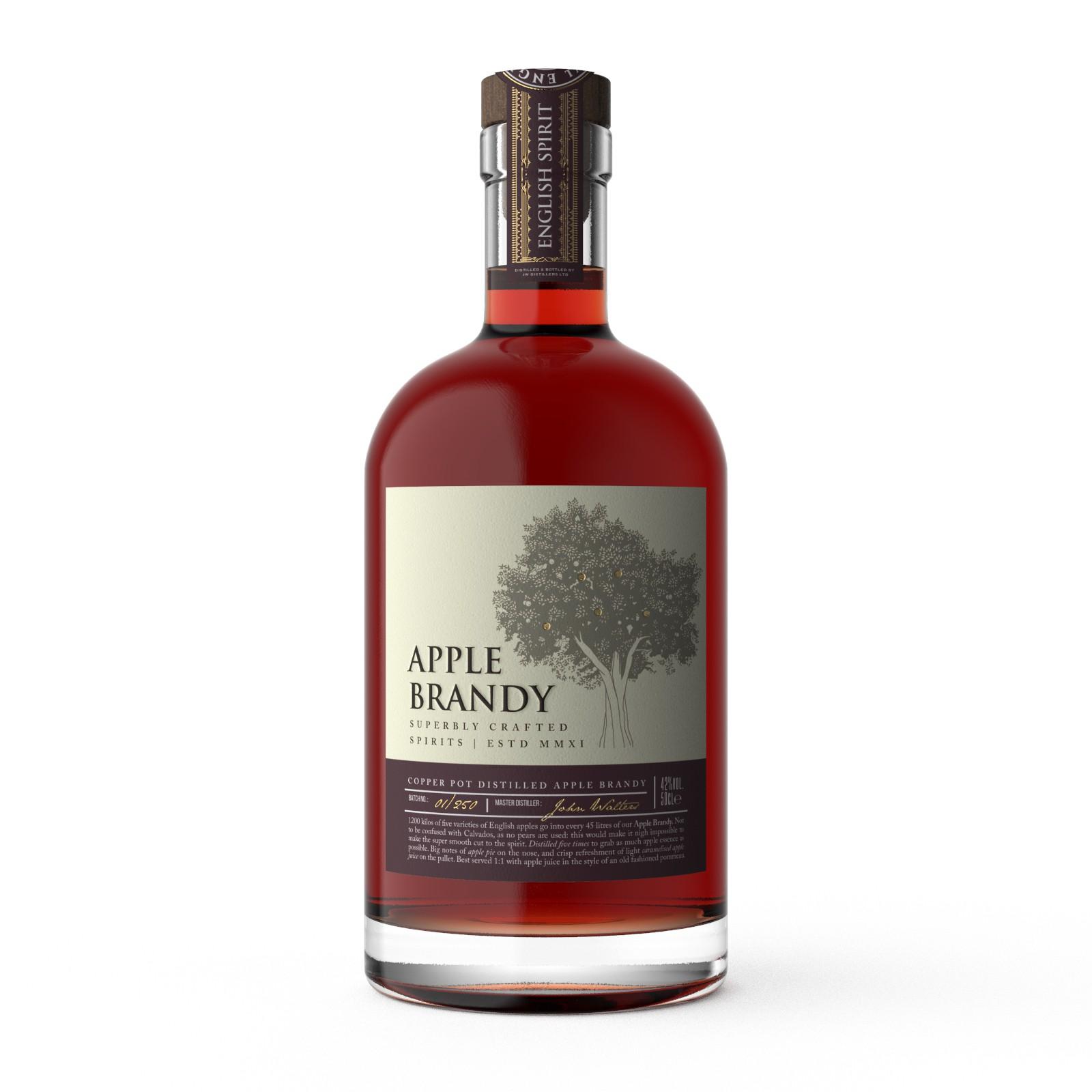 Label design for Apple Brandy