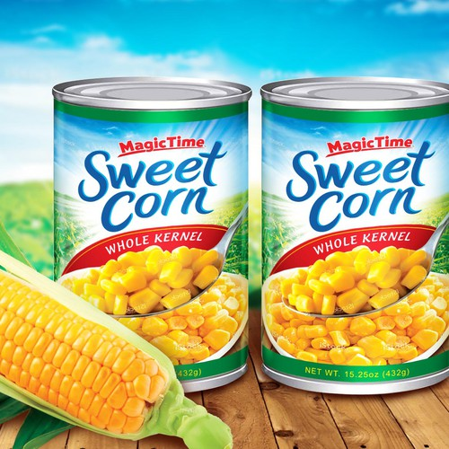 Packaging Label for Magic Time Sweet Corn