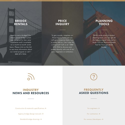 Web Design - U.S. Bridge