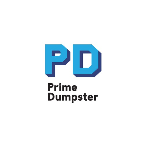 Bold and strong logo for a dumpster rental company