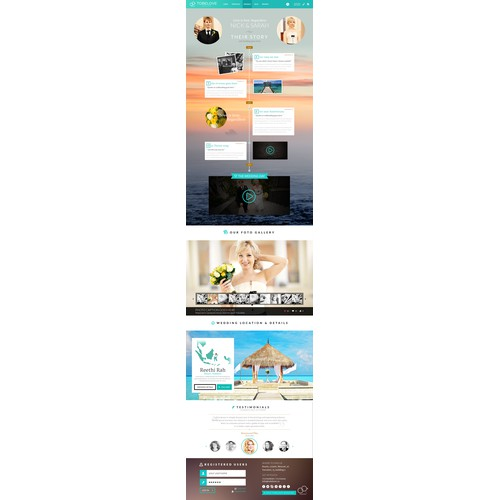 Minimalistic wedding service web-design contest TOBELOVE