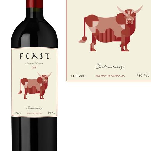 Feast Wine Label
