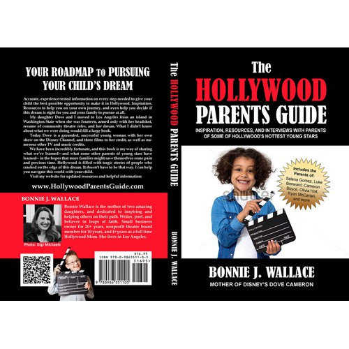 """Finalist design for """"The Hollywood Parents Guide"""" book cover"""