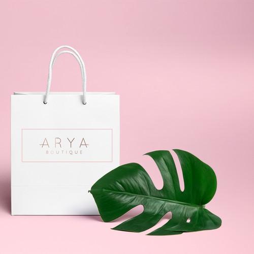 Logo proposal for Arya Boutique fashion online store