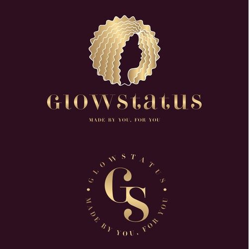 "logo concept for ""glowstatus""."