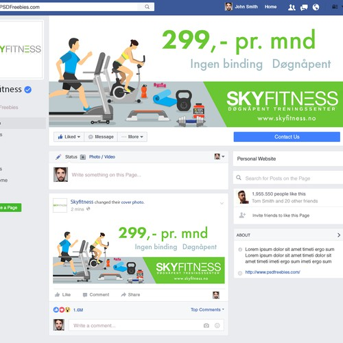 Skyfitness facebook cover