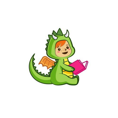 Dragon character design for a logo and app