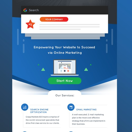 SEO / Online Marketing - Modern email template