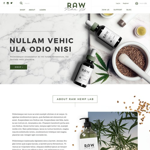 Hemp Health Products Homepage