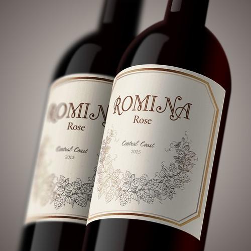 wine bottle label art