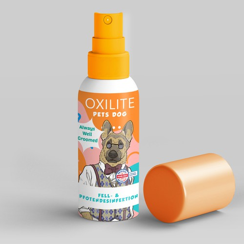 Label concept for dog spray