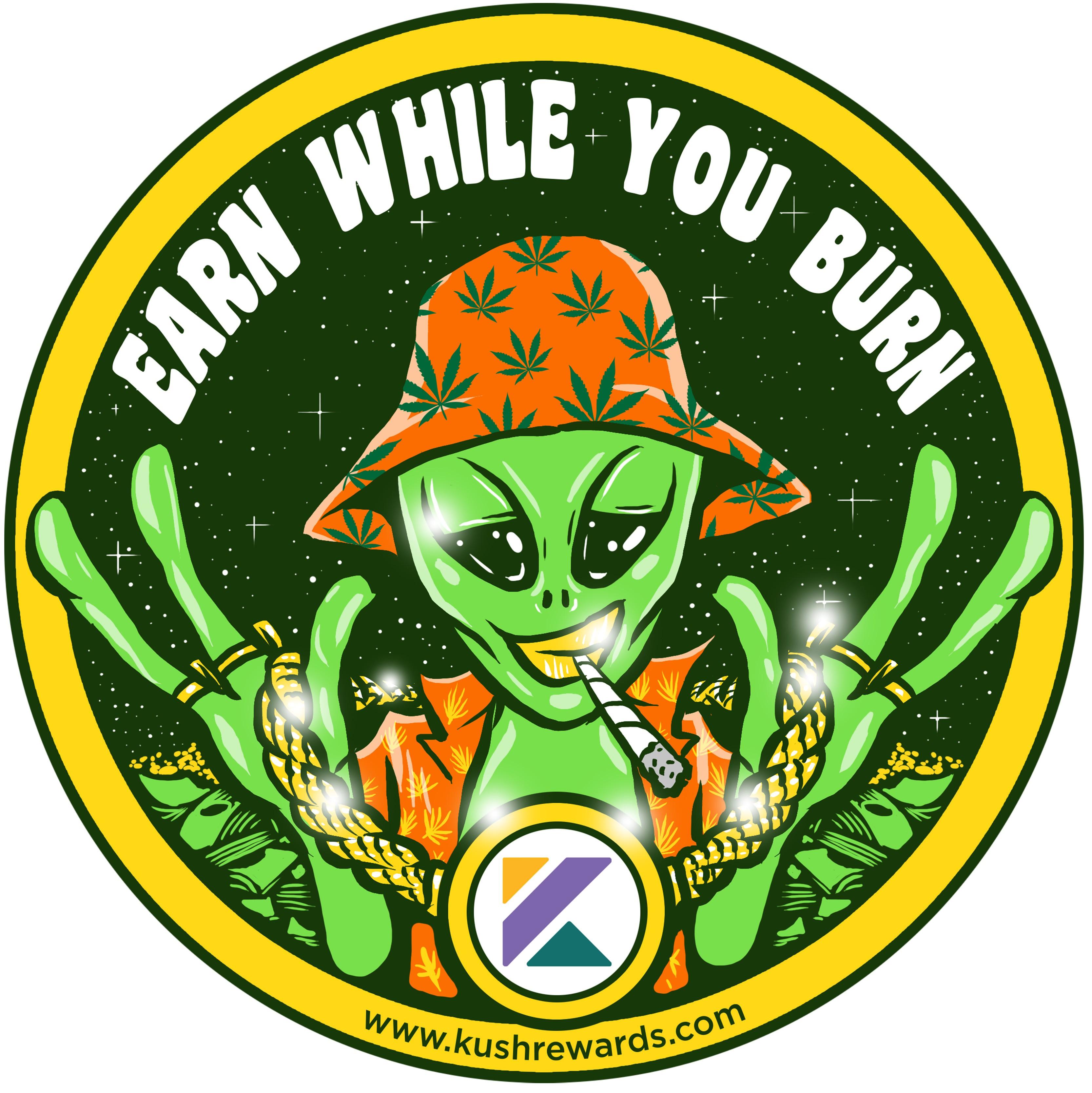 Sticker design for Kush Rewards