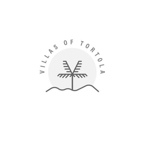 V & T Palm Tree Holiday Logo