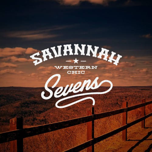 """Savannah Sevens Western Chic - Create a logo to """"brand"""" this new western/vintage boutique!"""