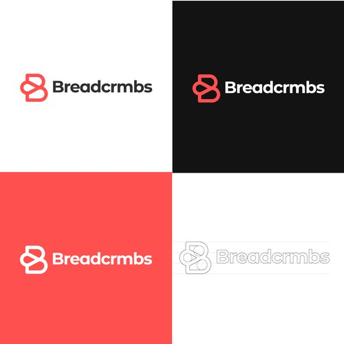 Minimalistic logo for Breadcrmbs