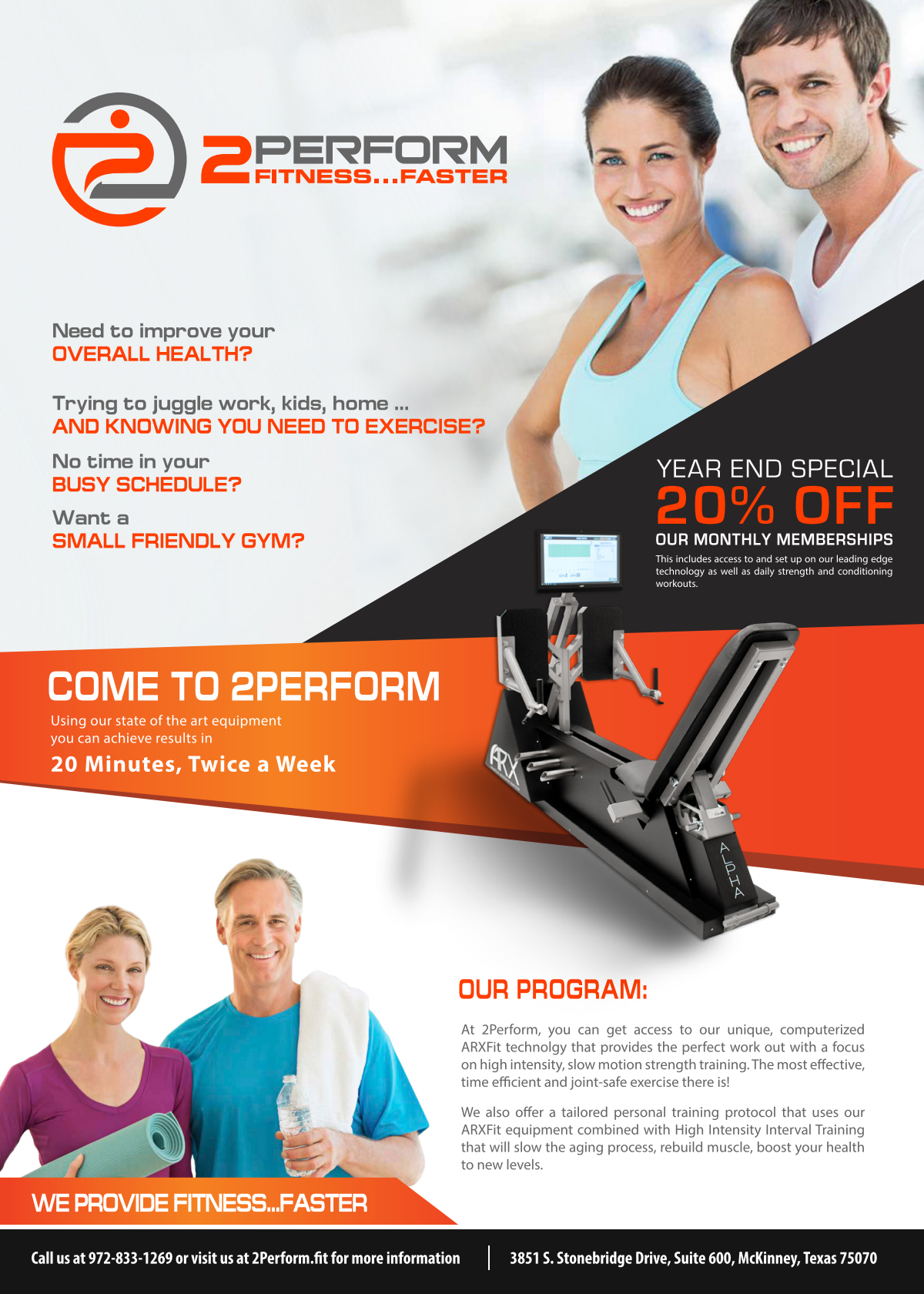 Edited flyers for boutique fitness center