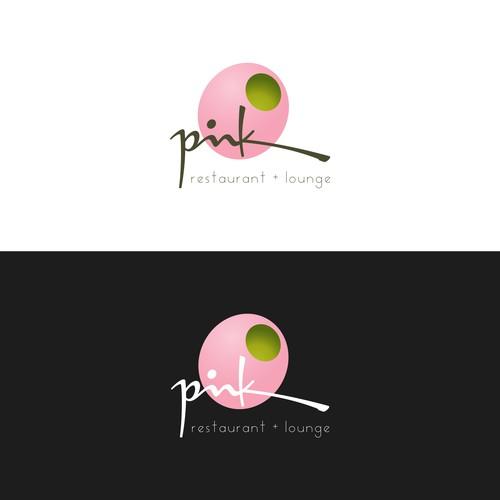 Pink restaurant logo