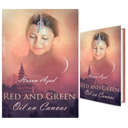 """Entry design for Book Cover contest """"Red and green Oil on Canvas"""" by Hasan Azad"""
