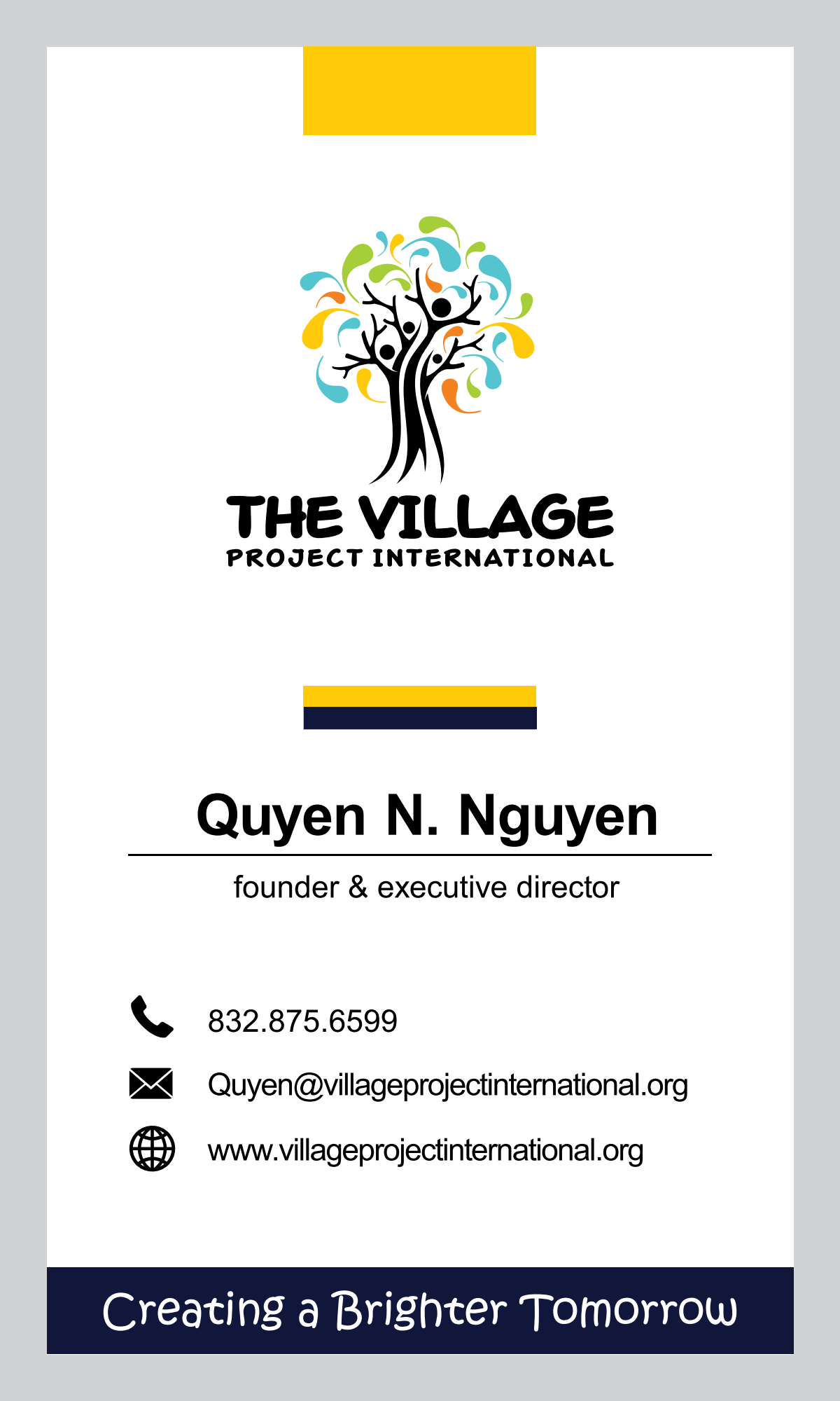 Business Card for Nonprofit