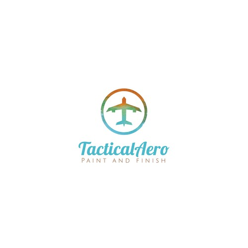 Logo for an aircraft painting company