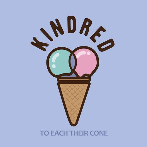Vegan ice cream logo