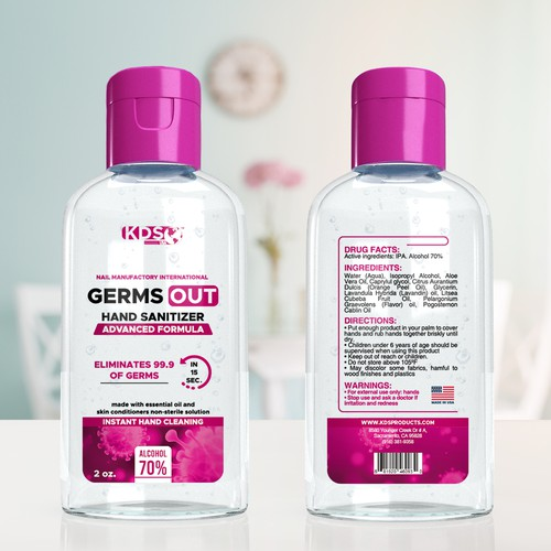 GERMS OUT SANITIZER