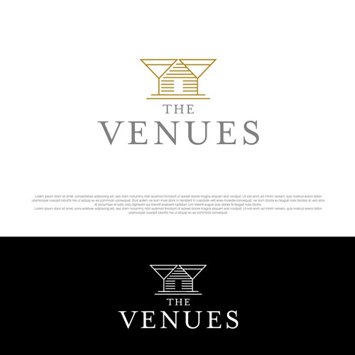 Rustic chic concept for The Vanues logo