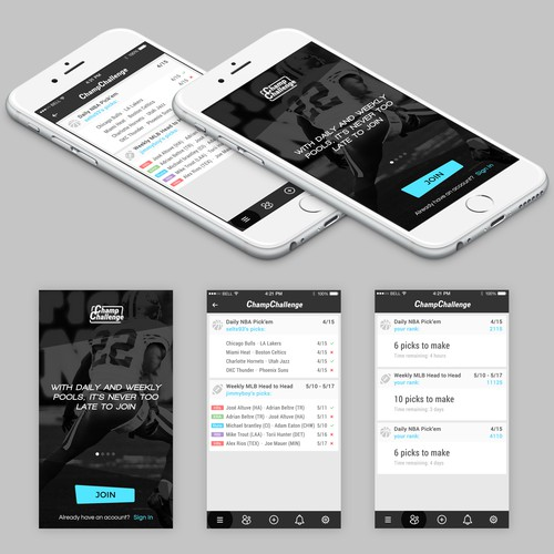Design a cool new sports pooling app