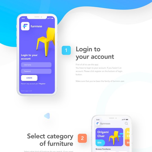 Furniture Marketplace App Design