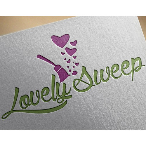 Sweep this contest for home cleaning biz logo for Lovely Sweep!