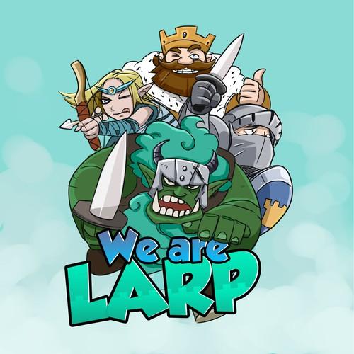 WE ARE LARP logo concept