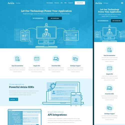 Responsive Web Design for Avizia
