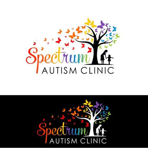Create an amazing logo for Spectrum: Autism Clinic that will be attractive to young people