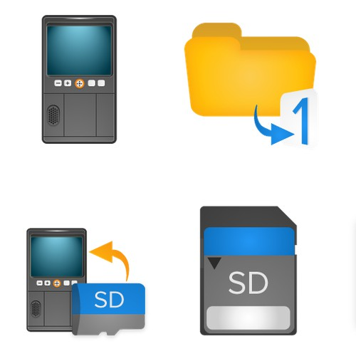 icons for backup photo device