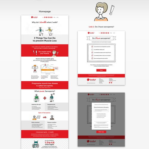 Infographic style website for medical supplement