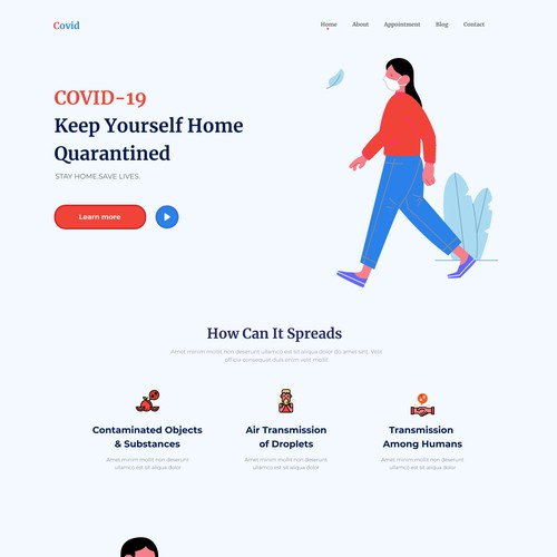COVID-19 WEB DESIGN