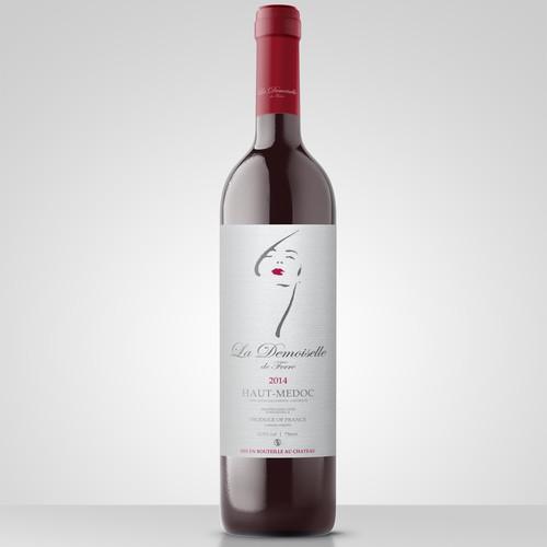 La Demoiselle de ferre Wine Label