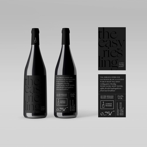 Typographic Design for a WineLabel