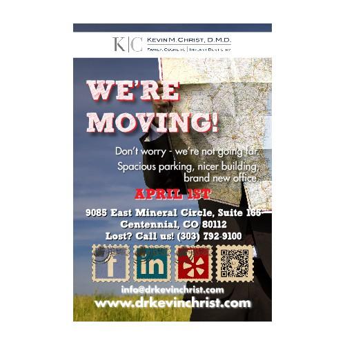 postcard or flyer for Kevin M. Christ, D.M.D.