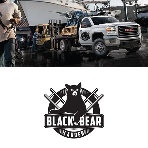 Logo concept for Black Bear Ladder