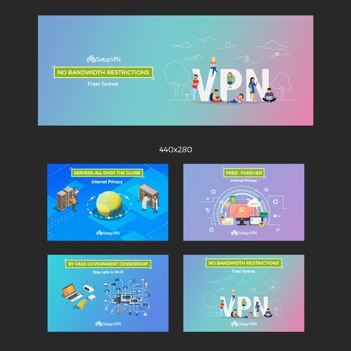 Banner designs for Google Chrome Store Hoxx