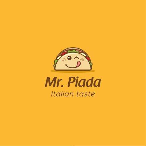 Mascot Logo for a Italian Piadina