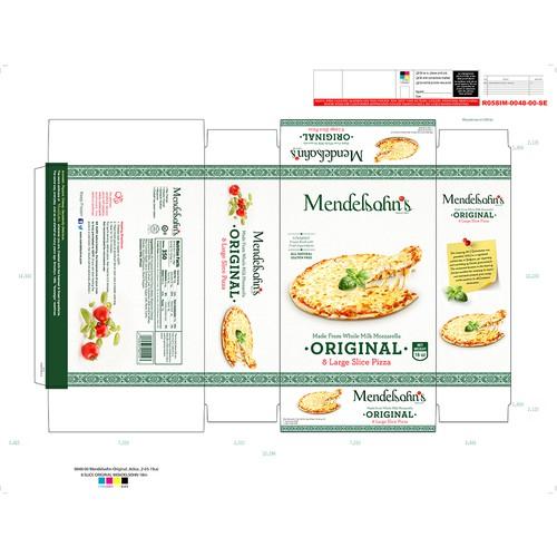 Packaging for Mendelshon's Pizza
