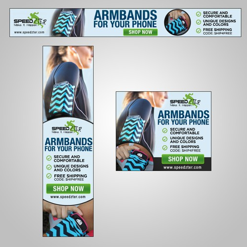 Banner ads to promote armbands