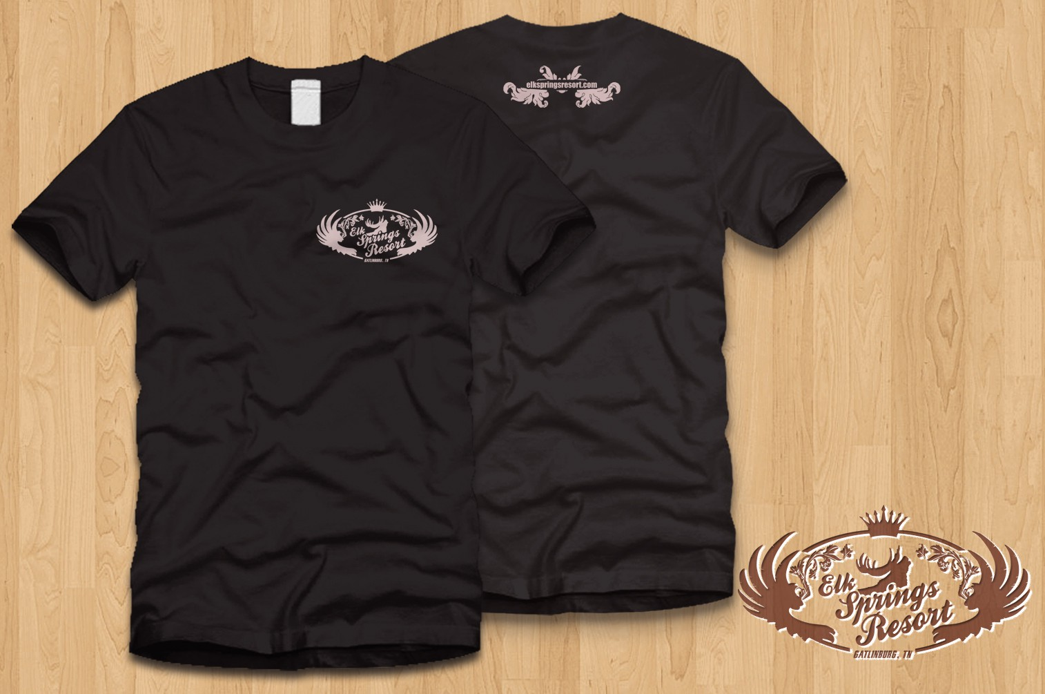 Create an edgy t-shirt design for Elk Springs Resort