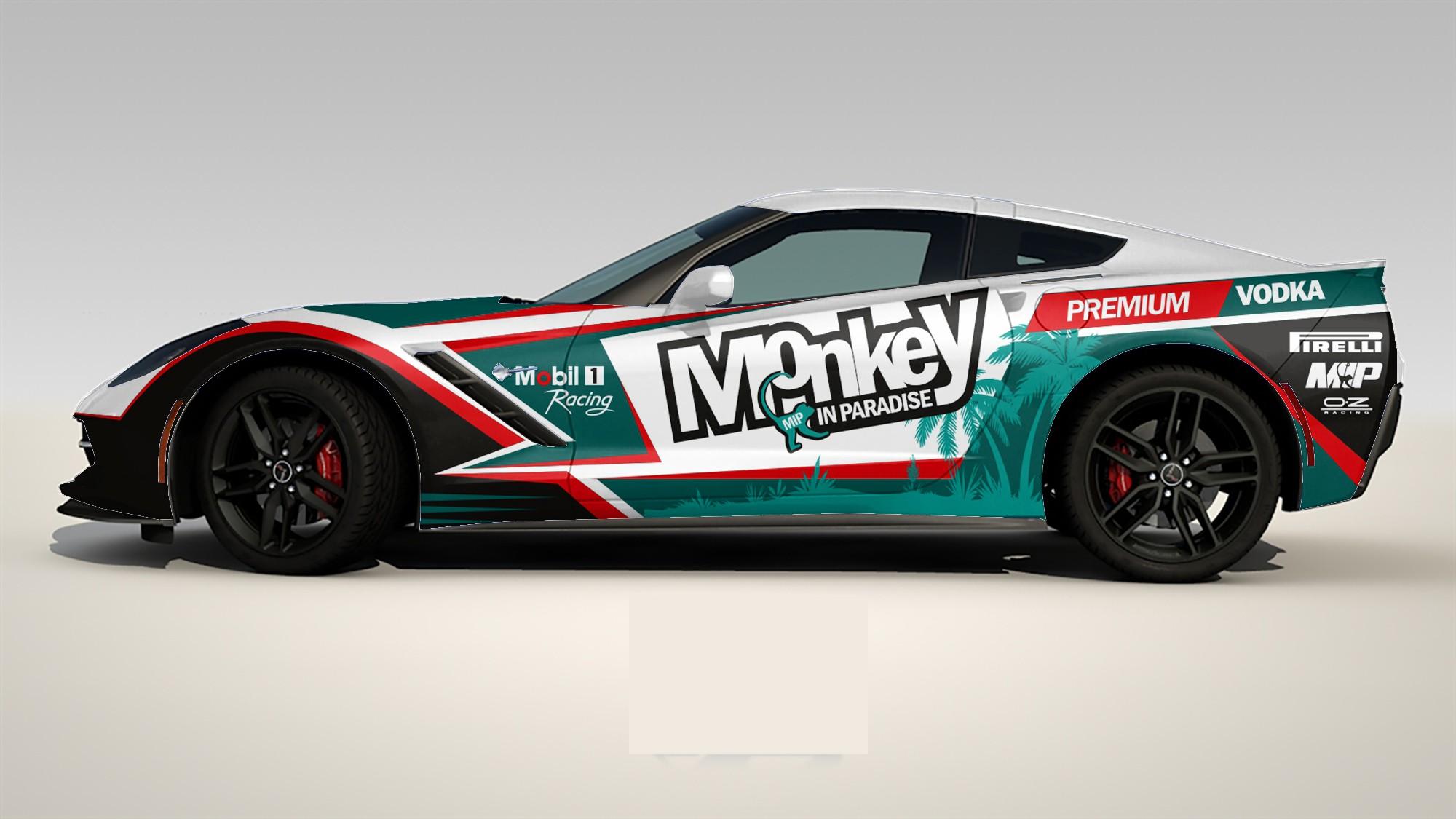 Monkey in Paradise race corvette
