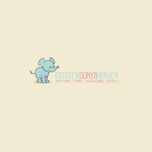 Create an inspiring logo that embodies good vibes... and maybe a baby elephant.