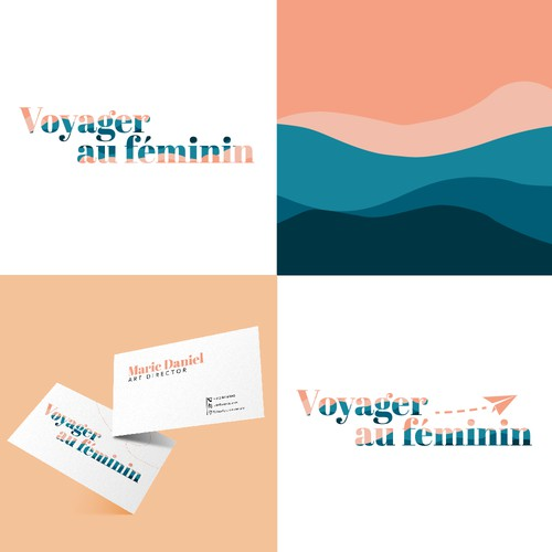 Logo for a feminine brand about travel